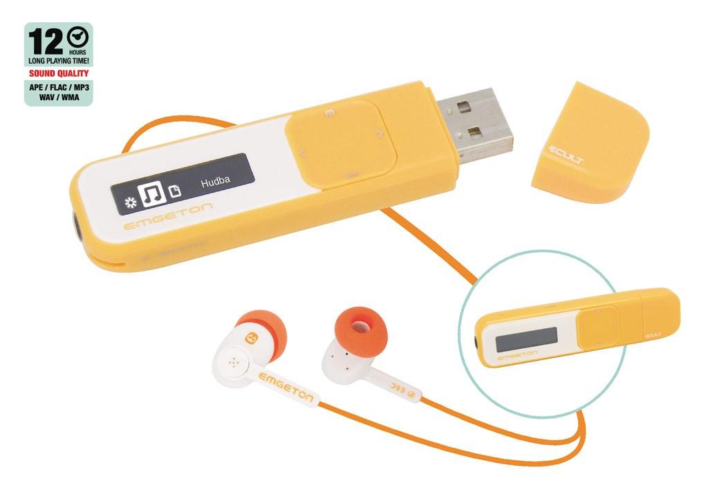 MP3, MP4 prehrávače,discmany  Emgeton CULT X6 4GB orange/white