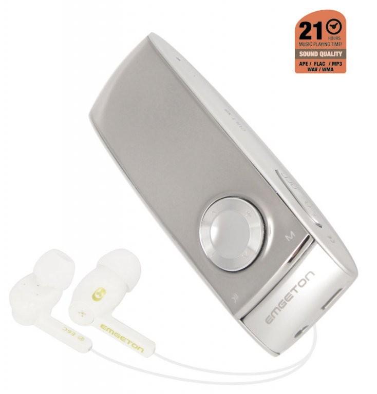 MP3, MP4 prehrávače,discmany  Emgeton CULT X8 4GB Silver/Anthracit, bez FM, OLED+microSD