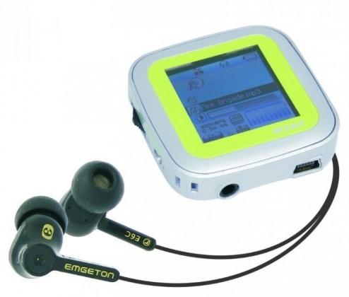 MP3, MP4 prehrávače,discmany  Emgeton CULT X9 8GB Silver/green, 22h, 1.5TFT LCD display