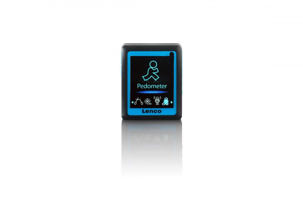 MP3, MP4 prehrávače,discmany Lenco Podo 152 4 GB, modrá