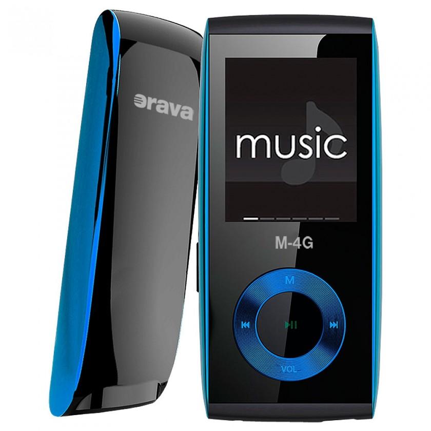 MP3, MP4 prehrávače,discmany Orava M-4G 4 GB, modrá