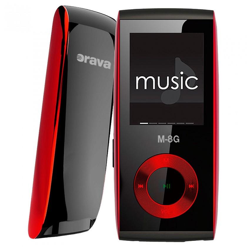 MP3, MP4 prehrávače,discmany Orava M-8G red