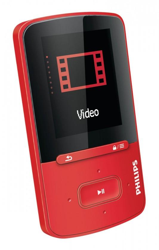 MP3, MP4 prehrávače,discmany Philips VIBE 4 GB, červená