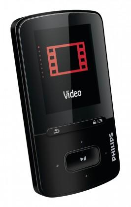 MP3, MP4 prehrávače,discmany Philips VIBE 4 GB, čierna