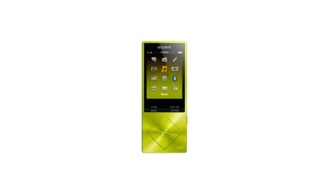 MP3, MP4 prehrávače,discmany Sony NW-A25HNY / 16GB, žlutá