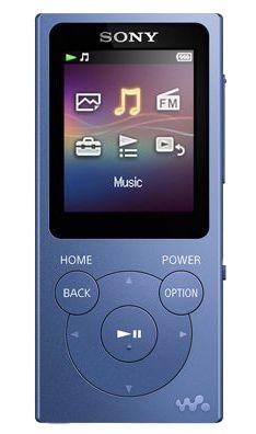 MP3, MP4 prehrávače,discmany Sony NW-E393L / 4GB, modrá