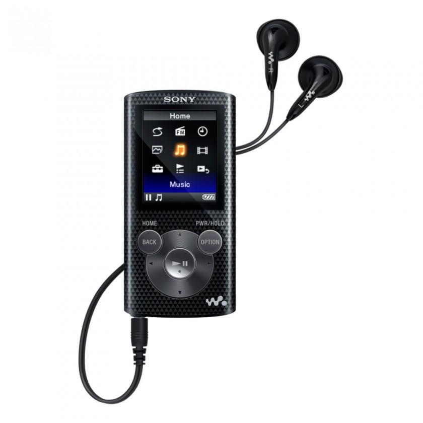 MP3, MP4 prehrávače,discmany Sony WALKMAN NWZ-E383 čierny (NWZE383B.CEW) ROZBALENÉ