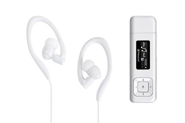 MP3, MP4 prehrávače,discmany Transcend MP330 8 GB, biela