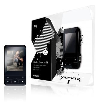 MP3, MP4 prehrávače,discmany  YARVIK FUNKICK4BK