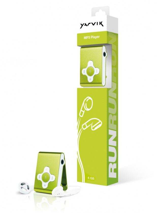 MP3, MP4 prehrávače,discmany  Yarvik MP3 přehrávač RUN 4GB Green
