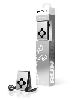 MP3, MP4 prehrávače,discmany  Yarvik MP3 přehrávač RUN 4GB Silver