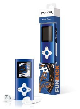 MP3, MP4 prehrávače,discmany  Yarvik MP4 přehrávač FUNKICK 4GB Blue PMP226