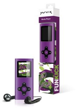 MP3, MP4 prehrávače,discmany Yarvik MP4 prehrávač FUNKICK 4GB Purple