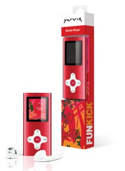 MP3, MP4 prehrávače,discmany  Yarvik MP4 přehrávač FUNKICK 4GB Red