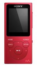 MP3 prehrávač Sony NW-E394 8 GB, červená