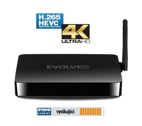Multimediálne centrum EVOLVEO Android Box Q5 4K, Quad Core Smart TV box, 4K video ROZBA