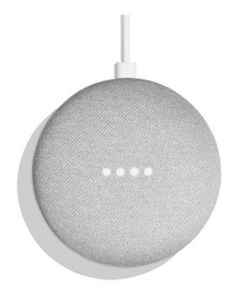 Multimediálne centrum Hlasový asistent Google Home mini Chalk