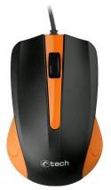Myš C-TECH WM-01, oranžová, USB