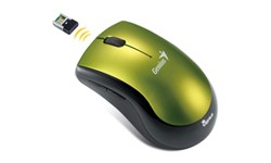 Myš  Genius Ergo 7000/ bezdrátová 2.4GHz/ 1200 dpi/ USB/ černozelená