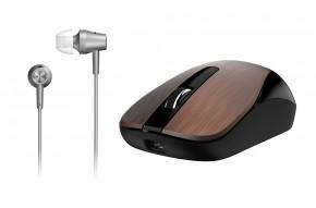 Myš Genius MH-8015 + headset zdarma kávová  Dobíjecí