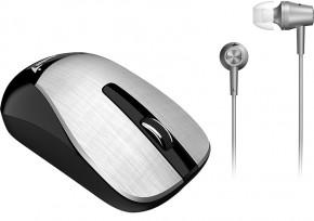 Myš Genius MH-8015 + headset zdarma stříbrná  Dobíjecí