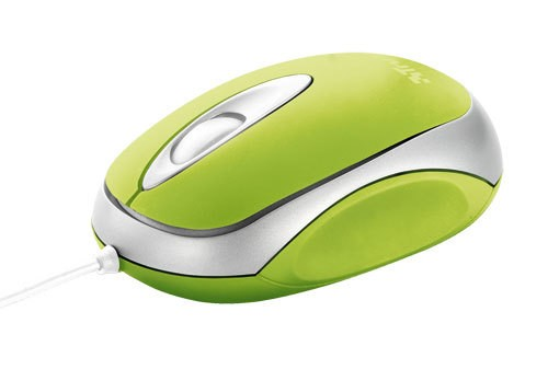 Myš  Trust Centa Mini Mouse - Lime