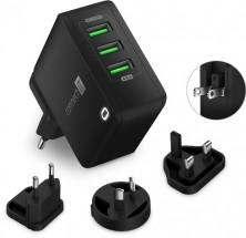 Nabíjací adaptér Connect IT CWC-3310-BK, 3xUSB-A, 24W, čierny