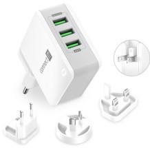 Nabíjací adaptér Connect IT CWC-3310-WH, 3xUSB-A, 24W, biely