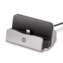 Nabíjací stojan pre mobilné telefóny s Lightning, strieborná