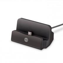 Nabíjací stojan pre mobilné telefóny s Micro USB, čierna