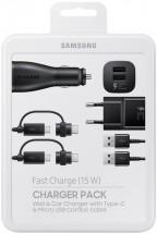 Nabíjacia sada Samsung autonabíjačka+nabíjačka+2x kábel, čierna