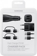 Nabíjacia sada Samsung autonabíjačka + nabíjačka + 2x kábel