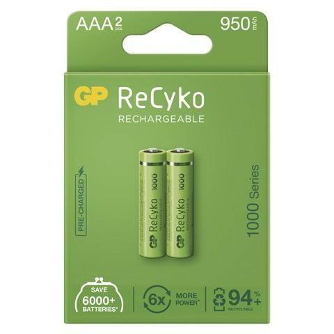 Nabíjacie batérie GP B2111 ReCyko, 1000mAh, AAA, 2ks
