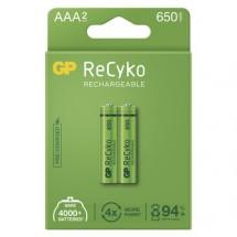 Nabíjacie batérie GP B2116 Recyko, 650mAh, AAA, 2ks