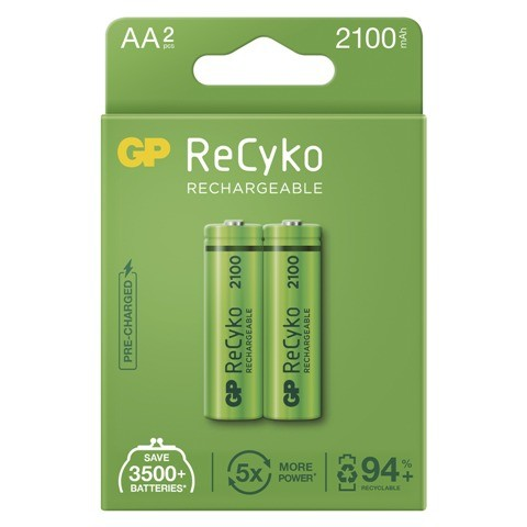 Nabíjacie batérie GP B2121 ReCyko, 2100mAh, AA, 2ks