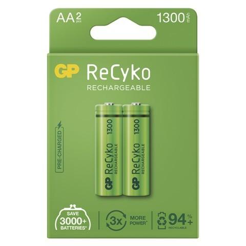 Nabíjacie batérie GP B2123 ReCyko, 1300mAh, AA, 2ks