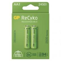 Nabíjacie batérie GP B2125 ReCyko, 2500mAh, AA, 2ks