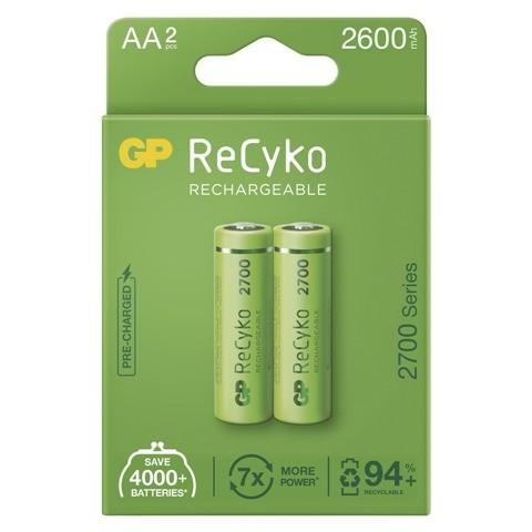 Nabíjacie batérie GP B2127 ReCyko, 2700mAh, AA, 2ks