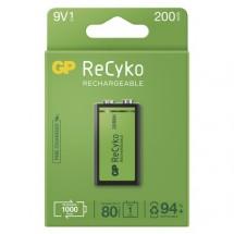 Nabíjacie batérie GP B2152 ReCyko, 200mAh, 9V, 1ks