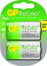 Nabíjacie batérie GP Recyko + D 5700 mAh 2ks