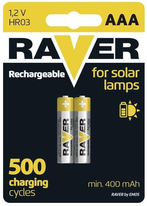 Nabíjacie batérie, nabíjačky Batérie Raver NiMH 400mAh AAA 2ks