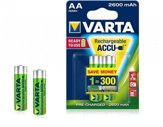 Nabíjacie batérie, nabíjačky Baterie Varta Accu 4xAA 2600 mAh
