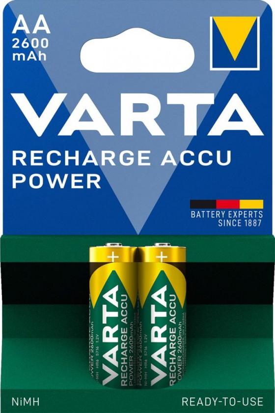 Nabíjacie batérie, nabíjačky Batérie Varta Accu, AA, 2600mAh, 2ks