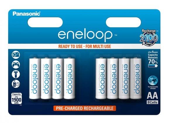 Nabíjacie batérie, nabíjačky Nabíjacie batérie Panasonic Eneloop 8BE / AA 1900 mAh, 8ks