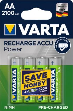 Nabíjacie batérie, nabíjačky Nabíjacie batérie Varta, AA, 2100mAh, 4ks