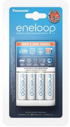 Nabíjacie batérie, nabíjačky Nabíjačka batérií Panasonic Eneloop K-KJ55MCC40E + 4xAA