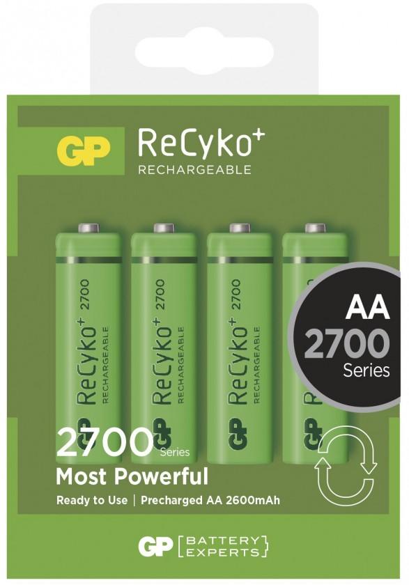 Nabíjacie batérie, nabíjačky Nabíjecí baterie GP AA 2700 NiMH 4ks