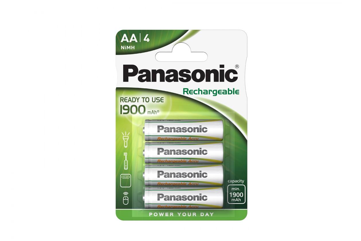 Nabíjacie batérie, nabíjačky Nabíjecí baterie Panasonic, AA, přednabité, 1900mAh, NiMh, 4ks