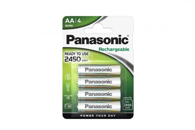 Nabíjacie batérie, nabíjačky Nabíjecí baterie Panasonic, AA, přednabité, 2450mAh, NiMh, 4ks