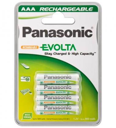 Nabíjacie batérie, nabíjačky Nabíjecí baterie Panasonic, AAA, přednabité, 750mAh, NiMh, 4ks